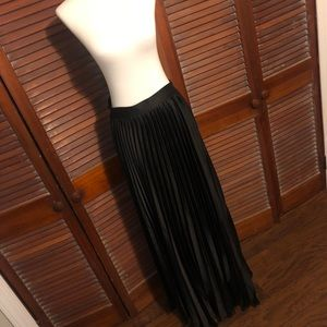 Dresses & Skirts - Black Pleated Maxi Skirt